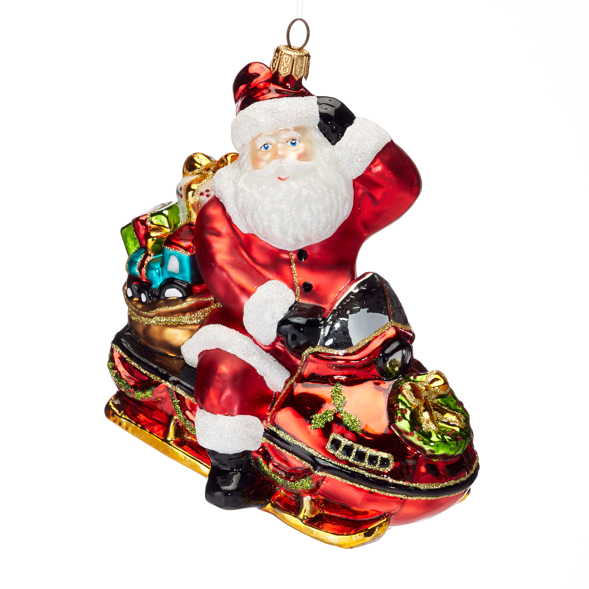 Festive Follies Snowmobile Ornament