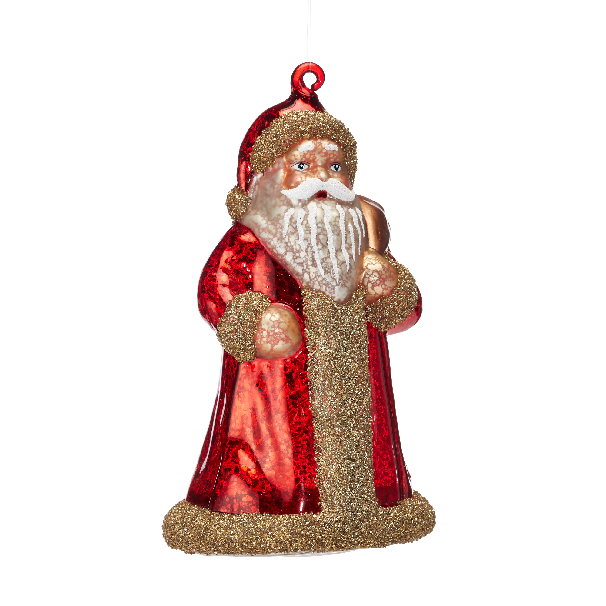 Lighted Santa Ornament
