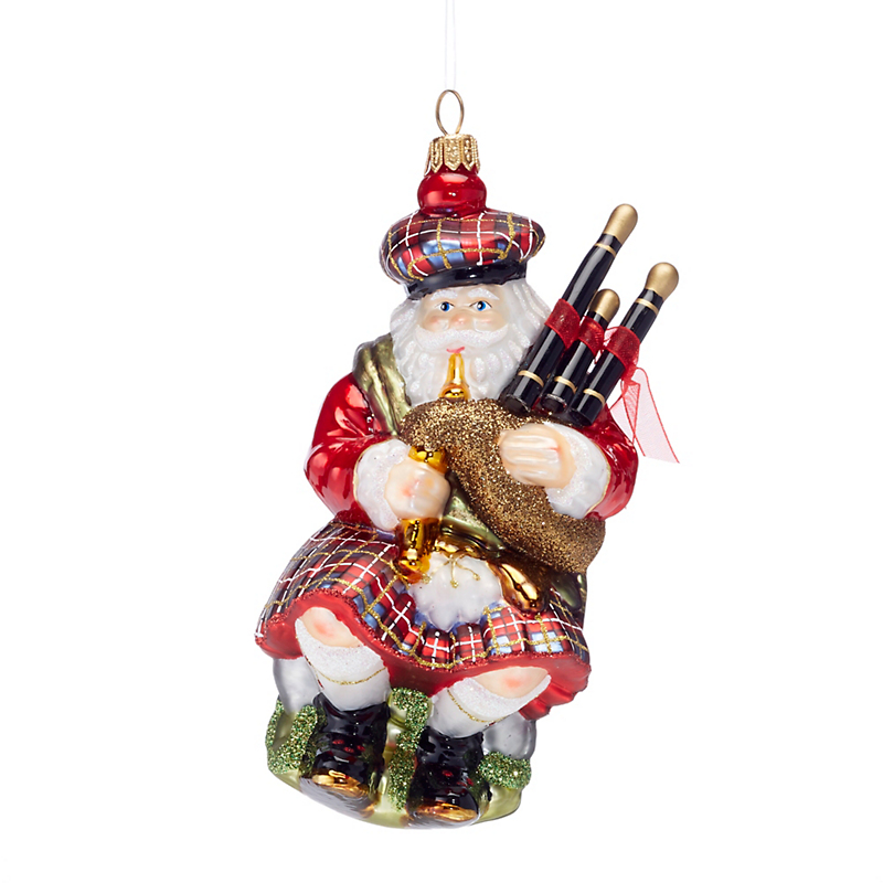 Highland Santa Artisan Christmas Ornament