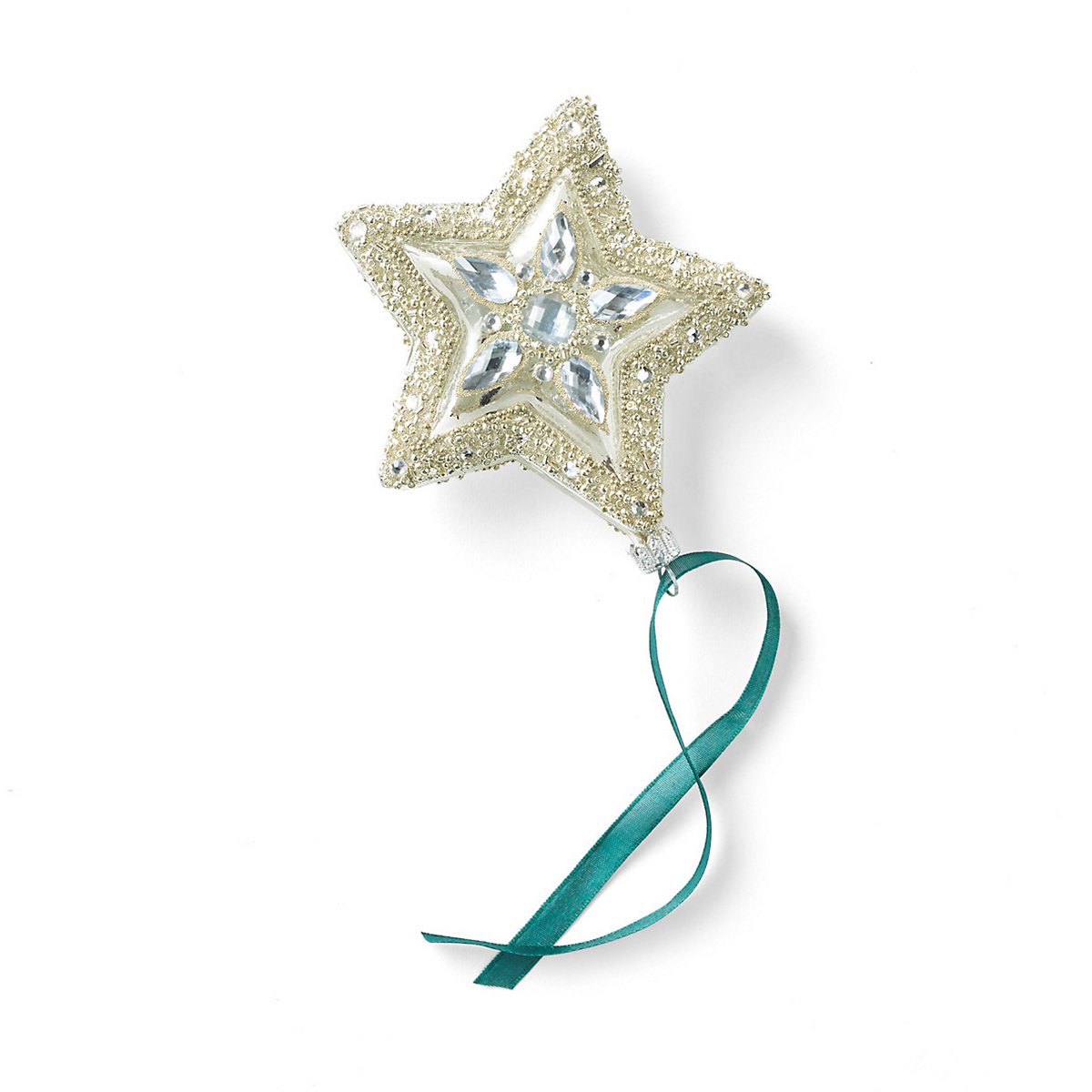 Silver Glass Star Ornament