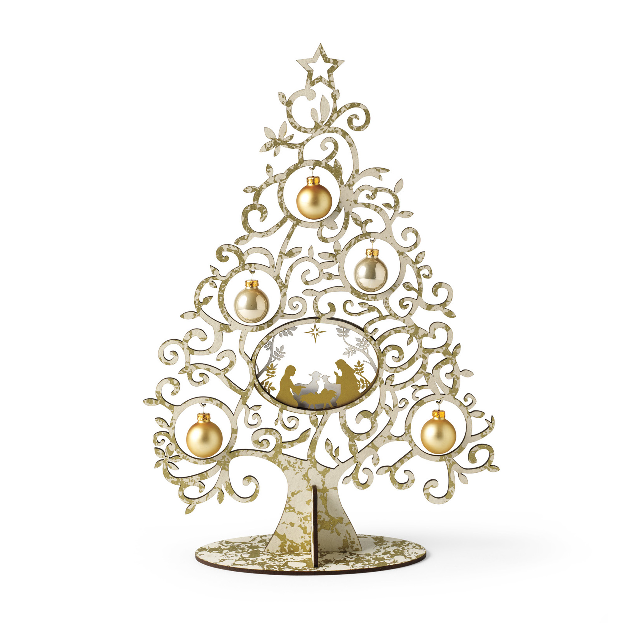 Tabletop Nativity Tree