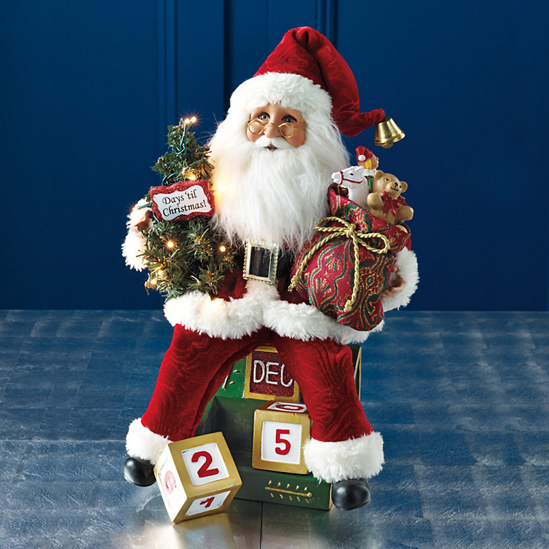 Lighted Countdown Santa