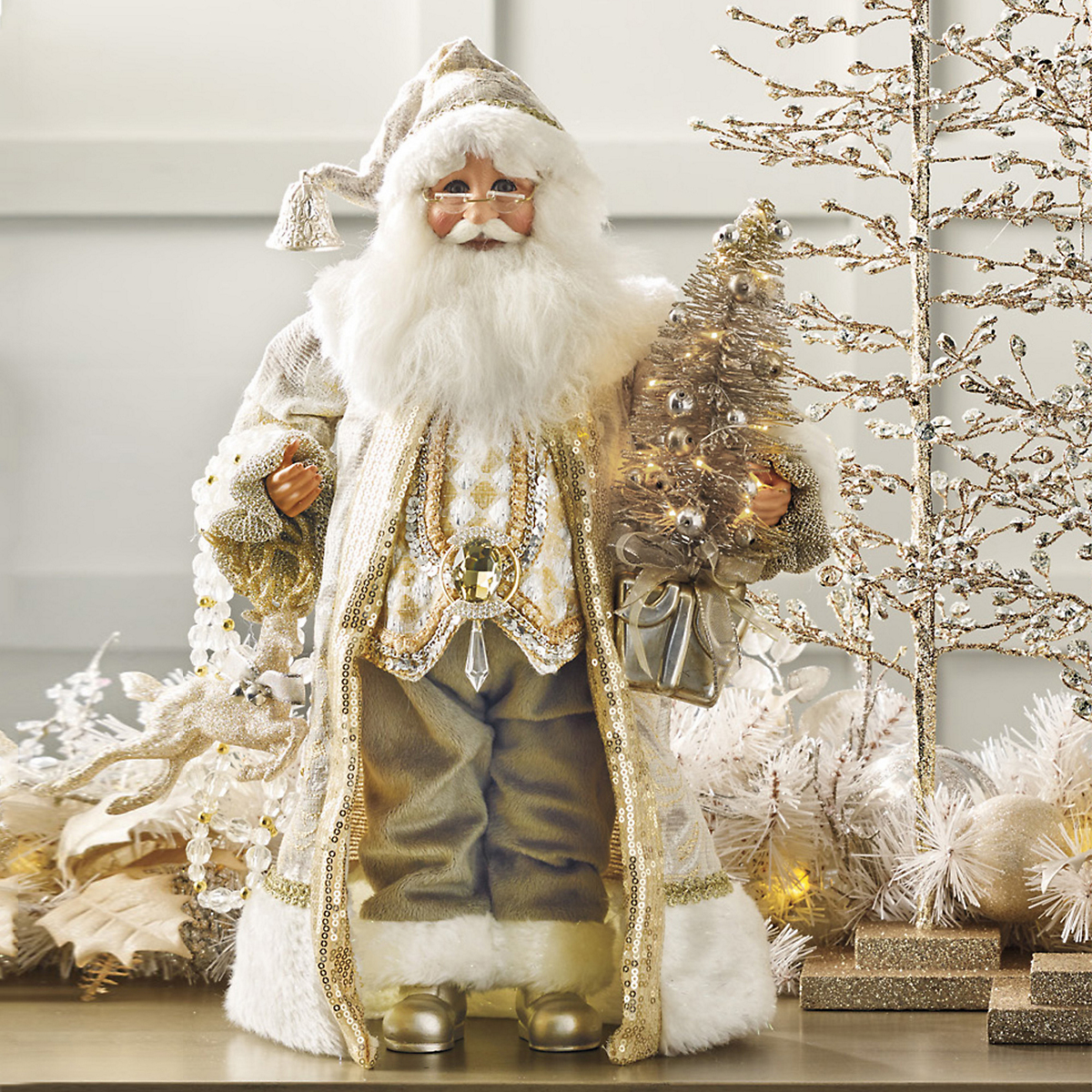 Lighted Radiant Santa