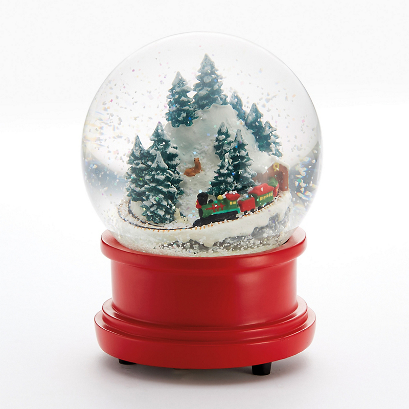Mountain Train Snowglobe