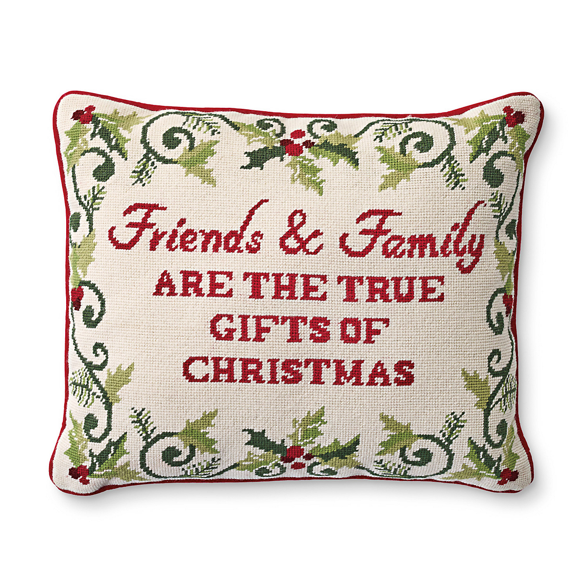 Friends And Family Are Needlepoint Pillow