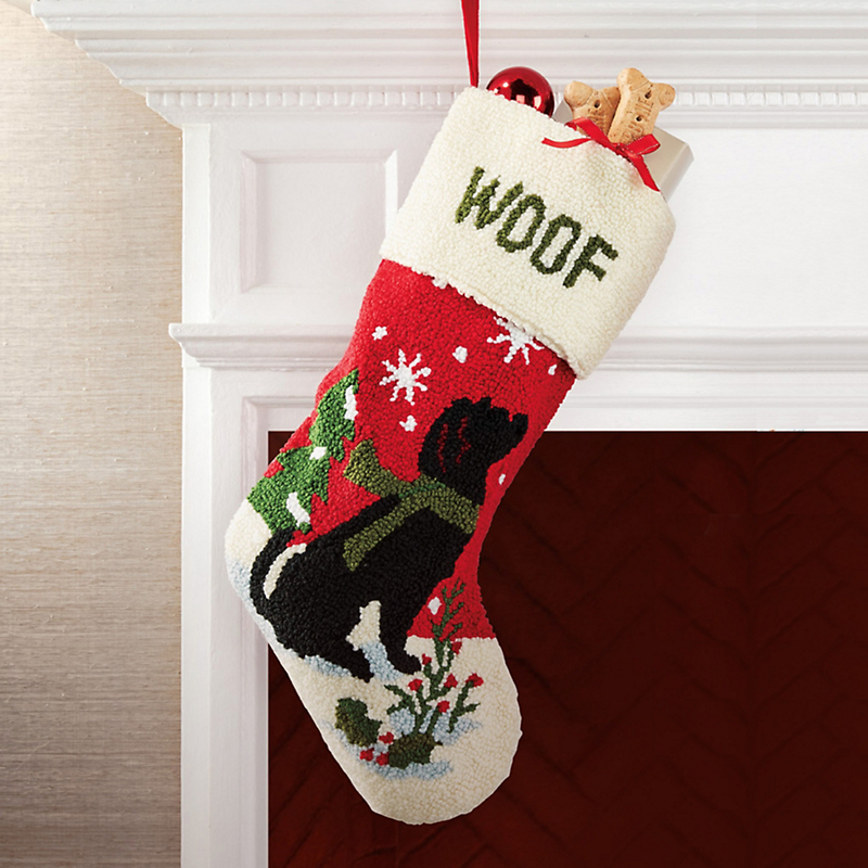 Woof Dog Christmas Stocking