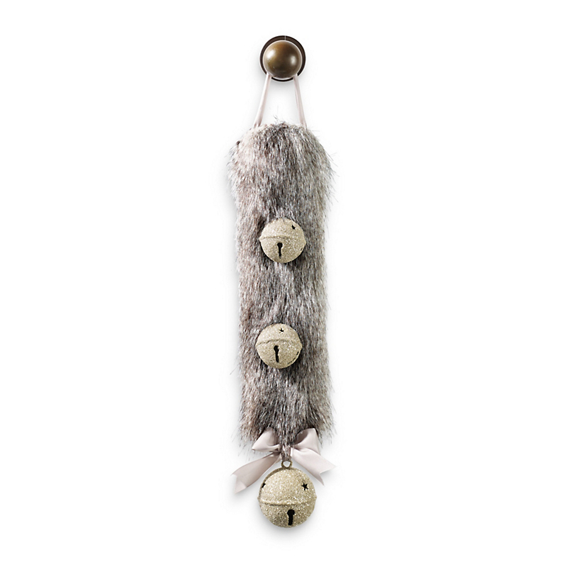 Faux Fur & Bells Door Hanger