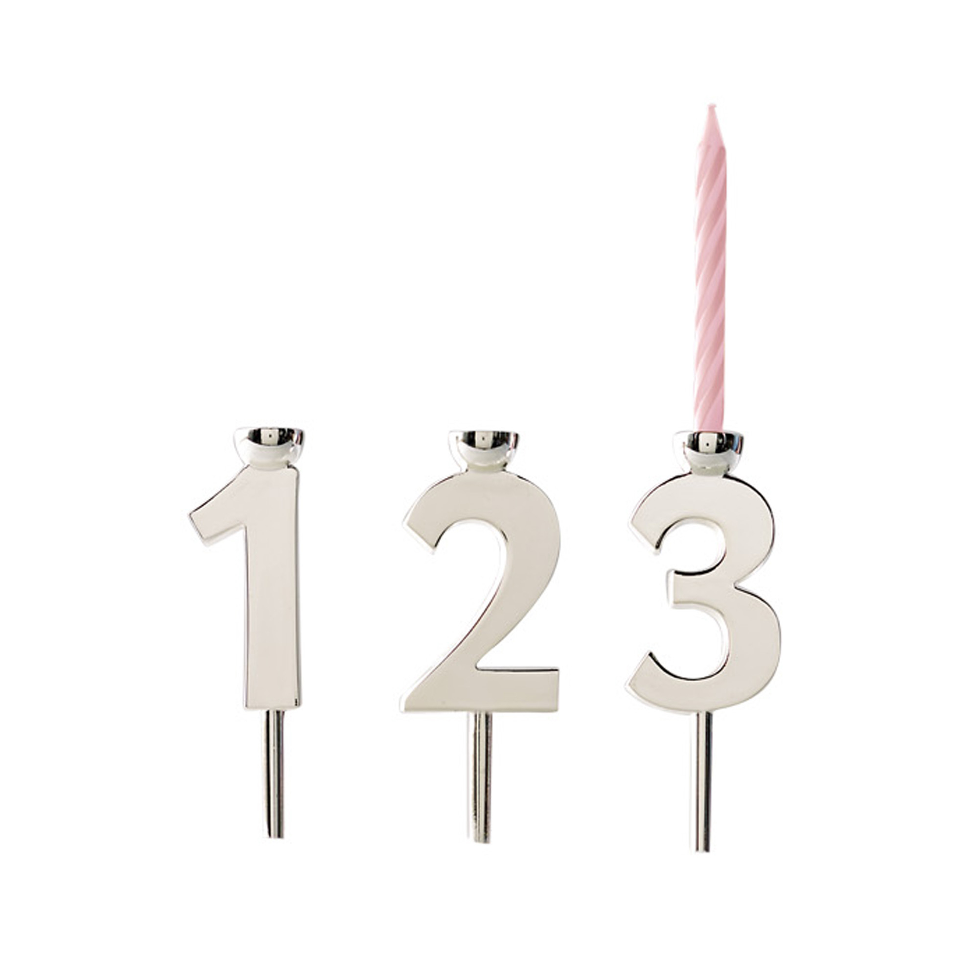 Celebration Numbers Candleholder Set