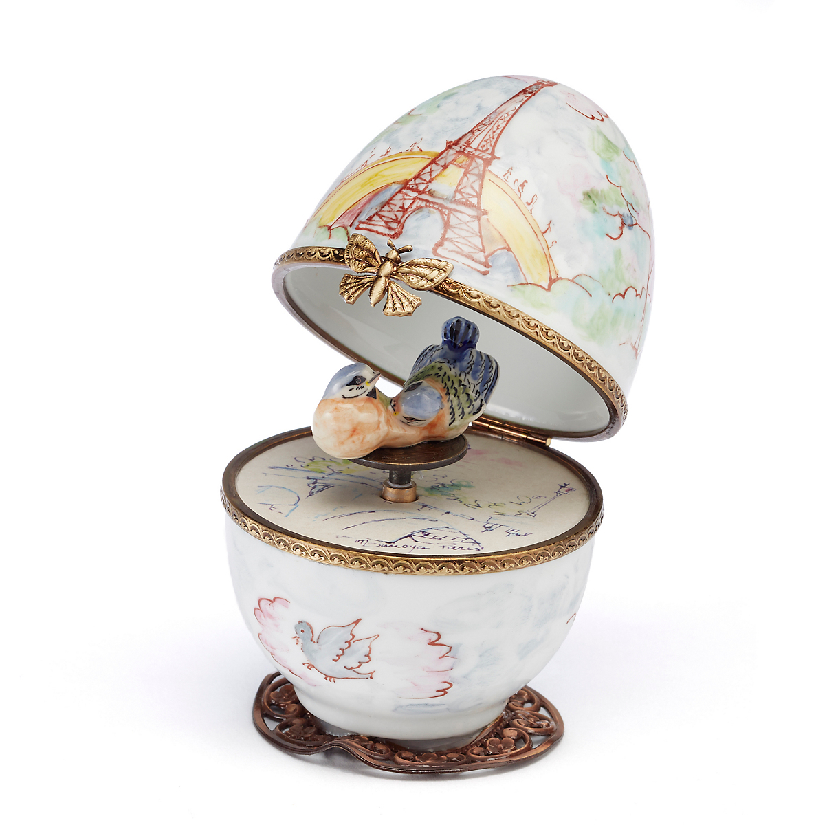 Limoges Eiffel Tower Egg Music Box