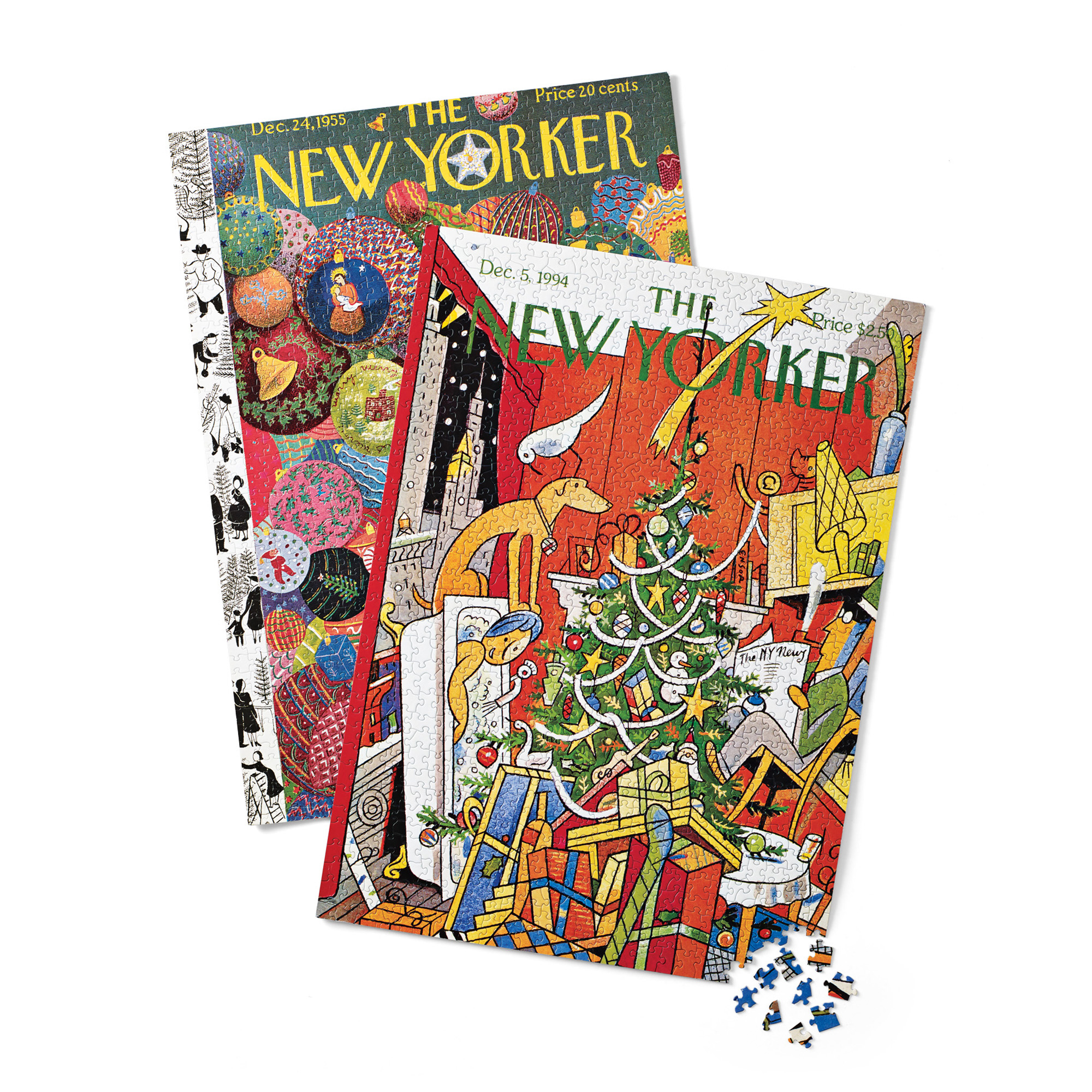 New Yorker Christmas Puzzles, Set Of 2