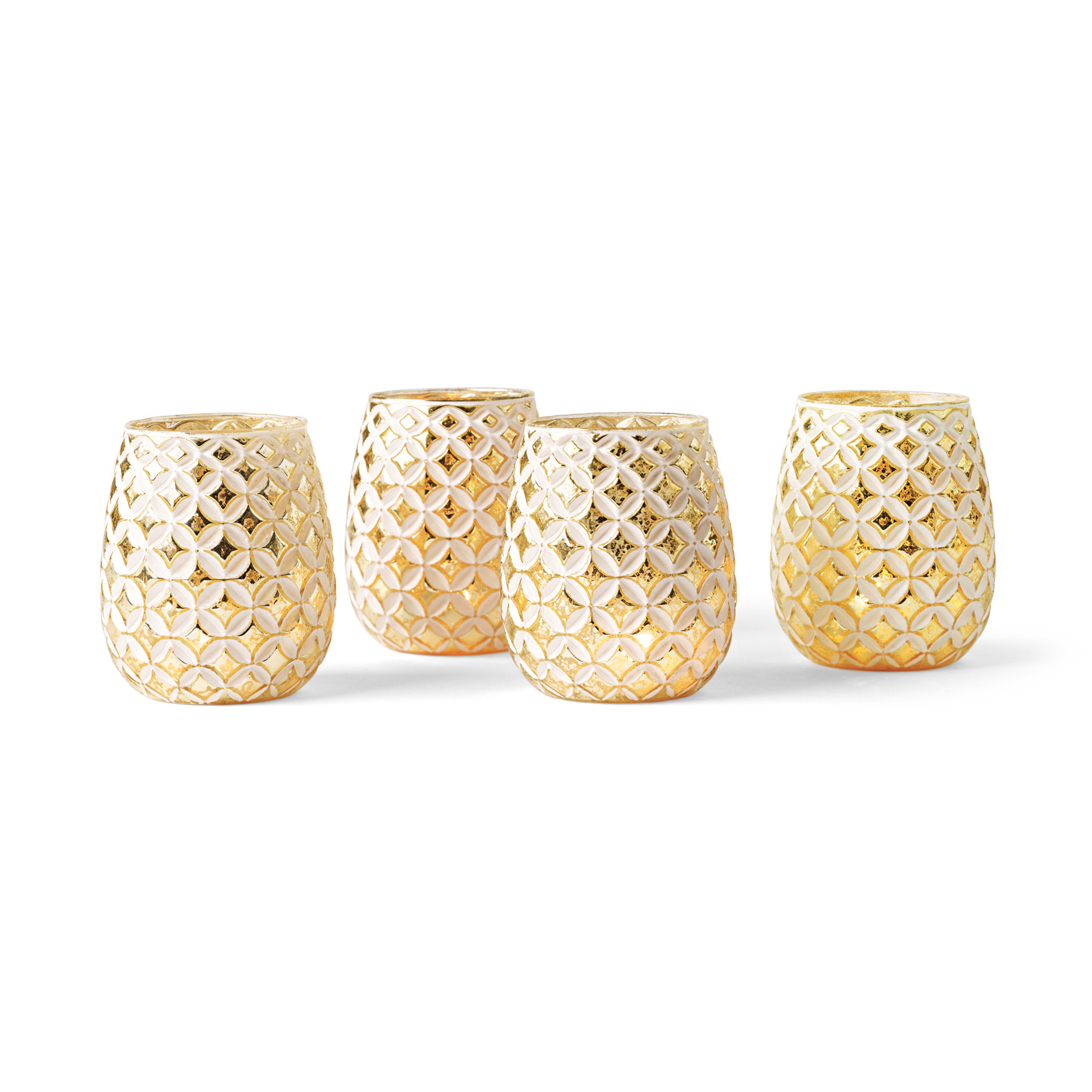 White & Gold Votive Holders