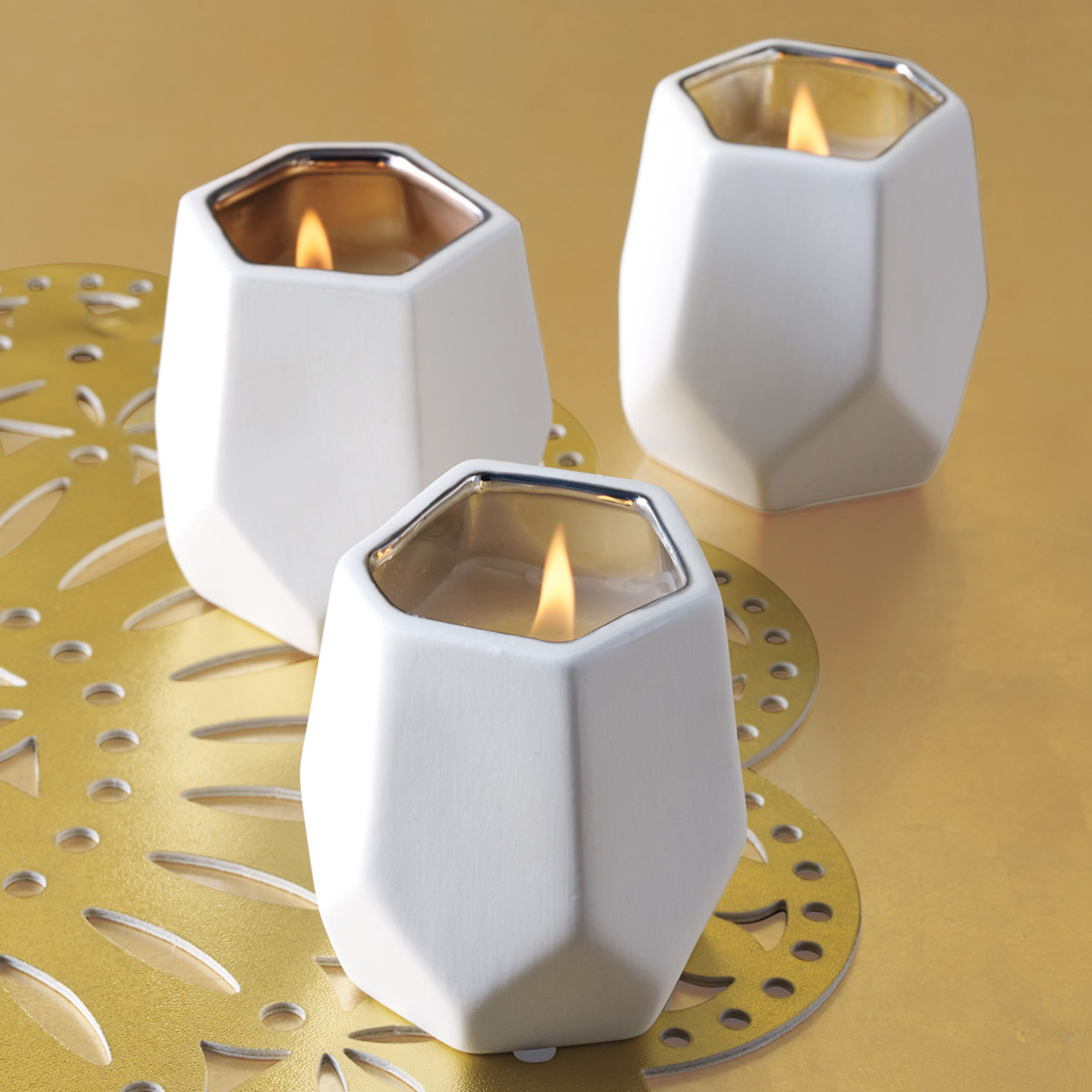 Abstract Candles, Set Of 3