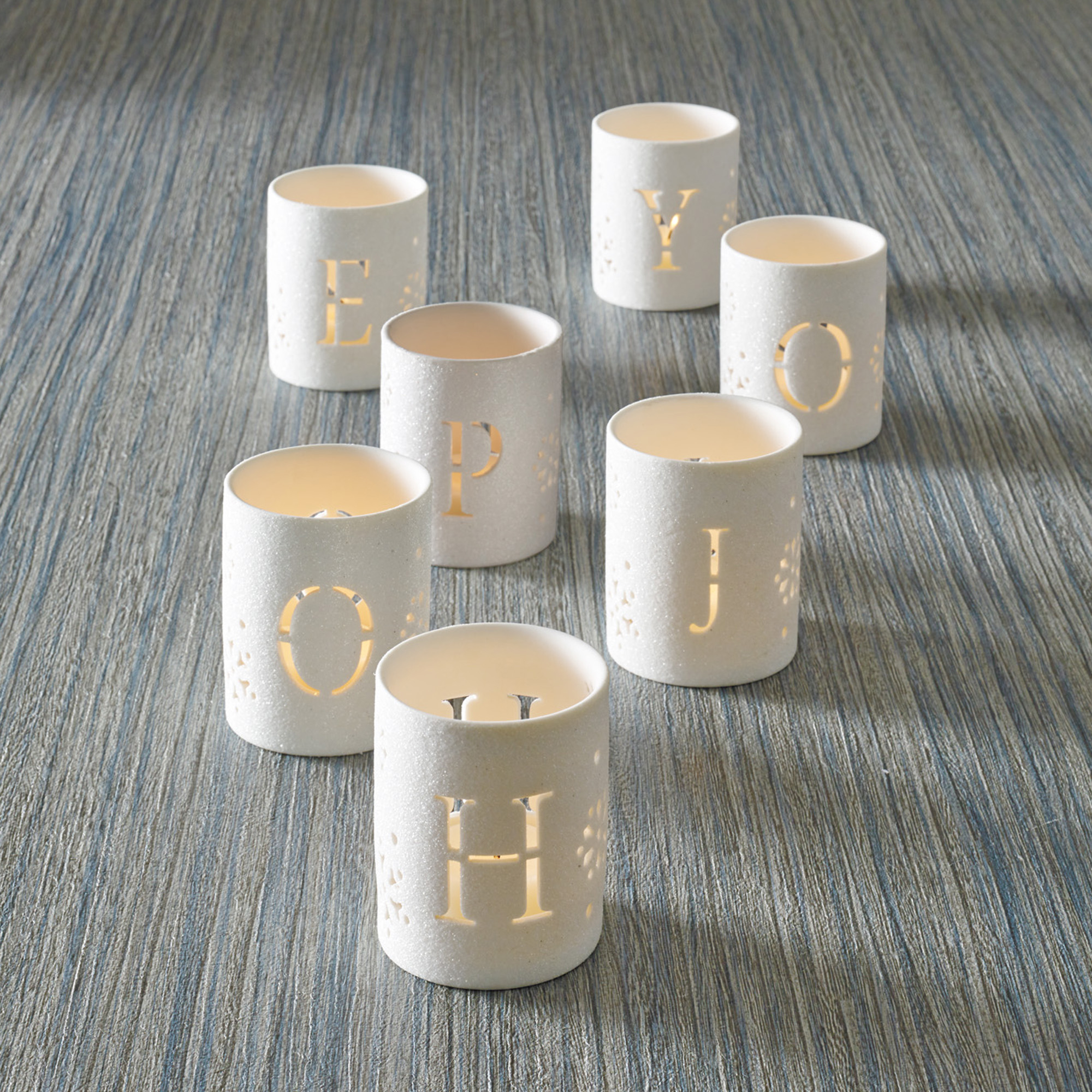 Joy & Hope Votive Holders