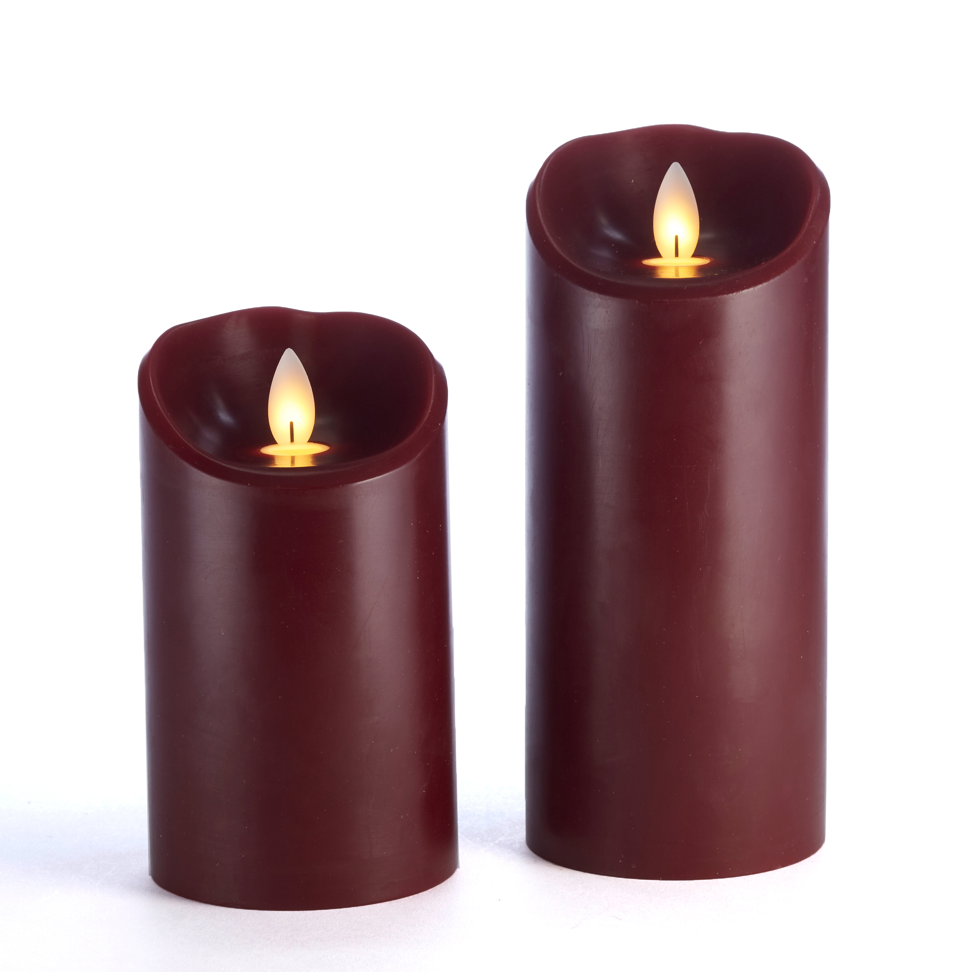 Merry Merry Flameless Pilar Candles, Cranberry