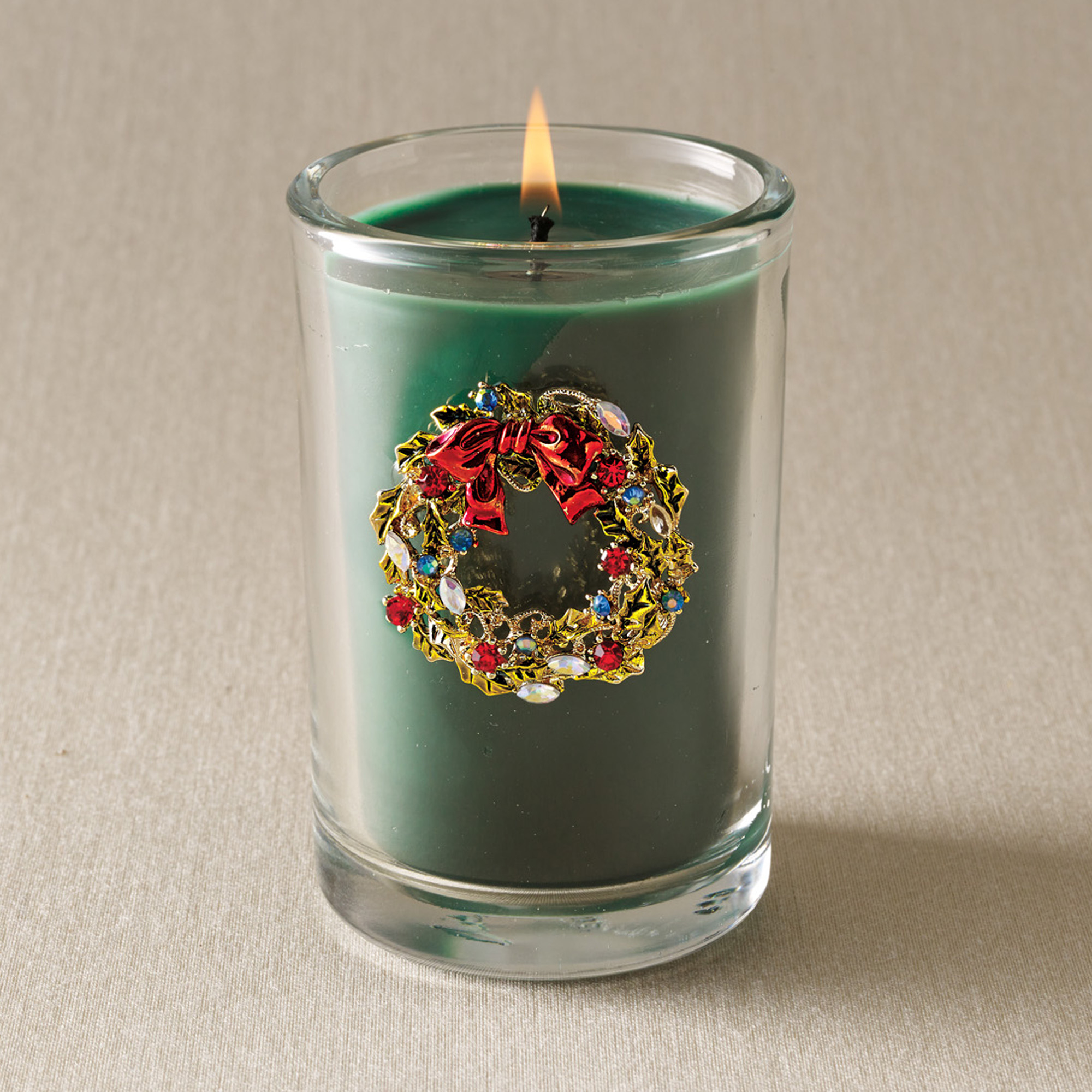Swarovski Wreath Candle