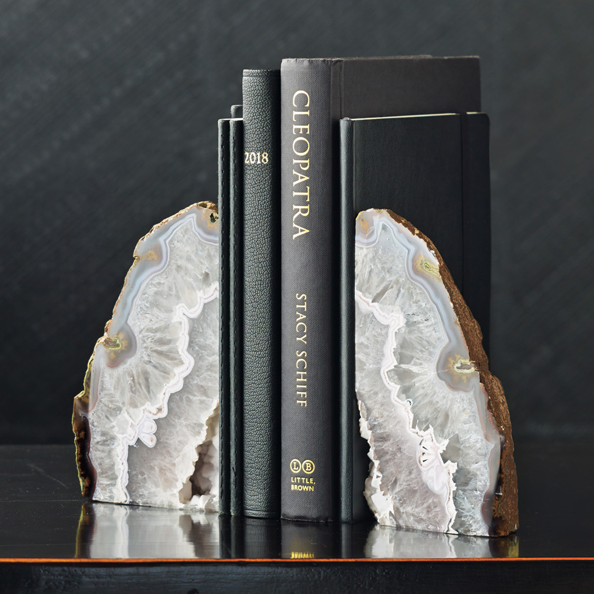 Agate Bookends, Natural