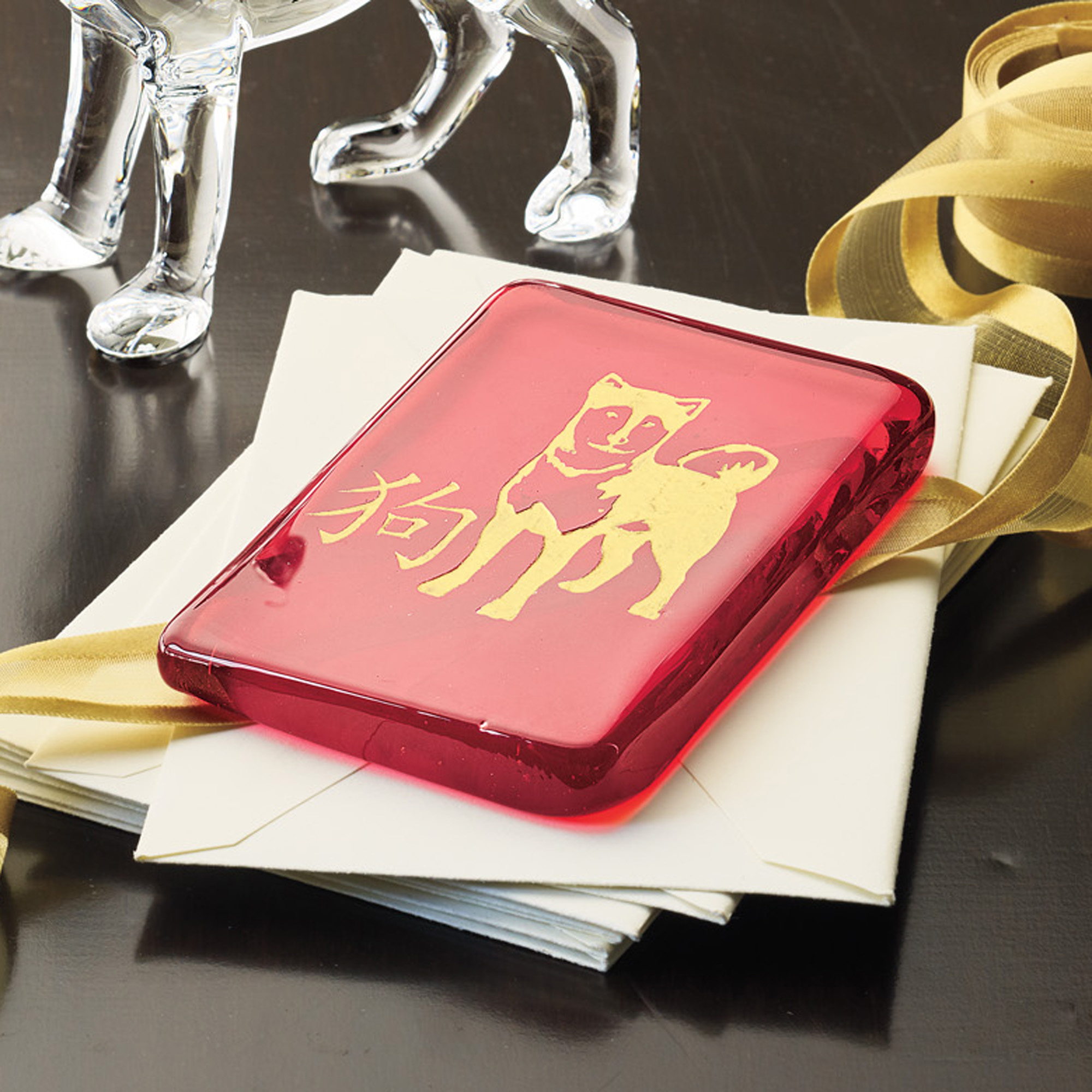 2018 Year Of The Dog Red Envelope Paperweight