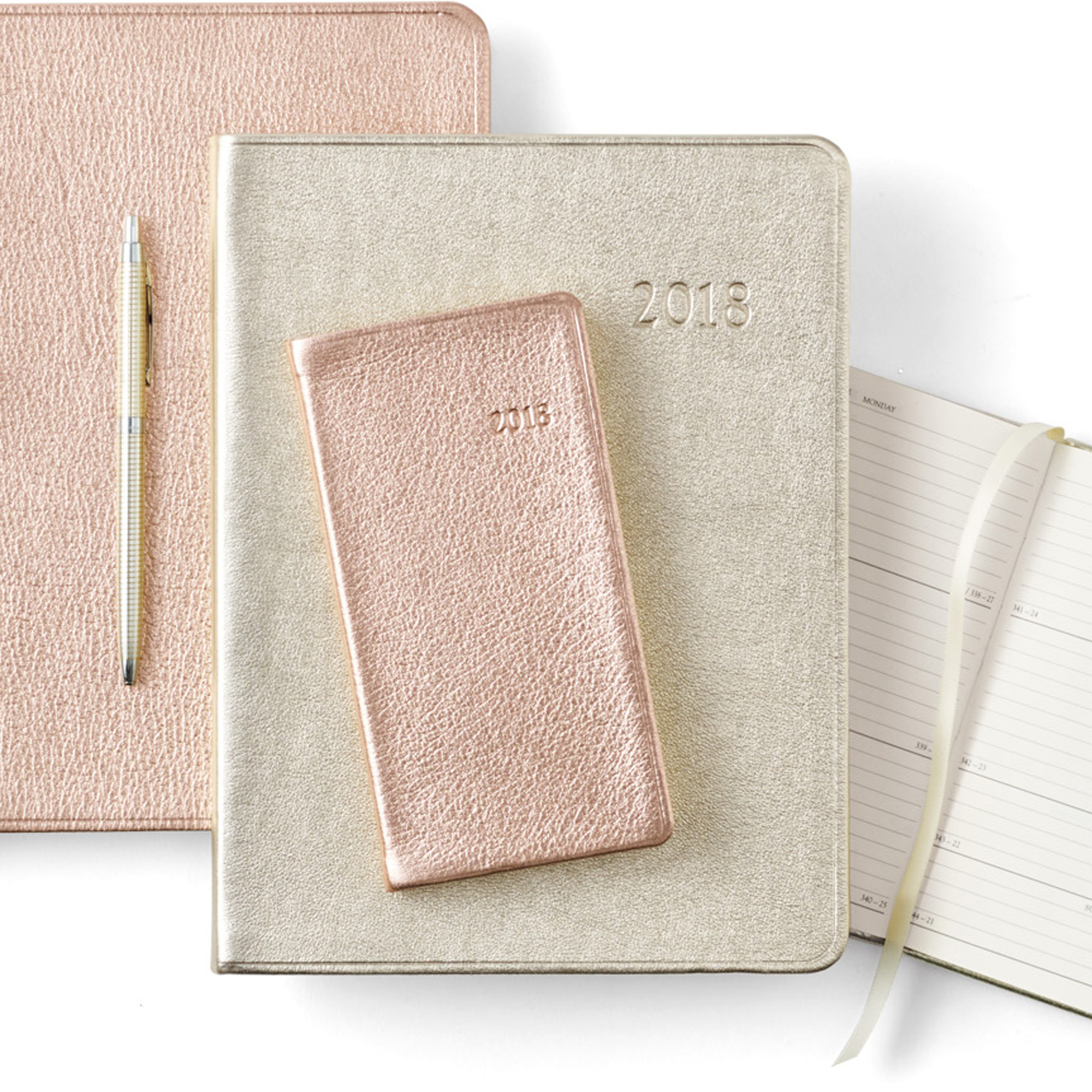 2018 Metallic Pocket Diary
