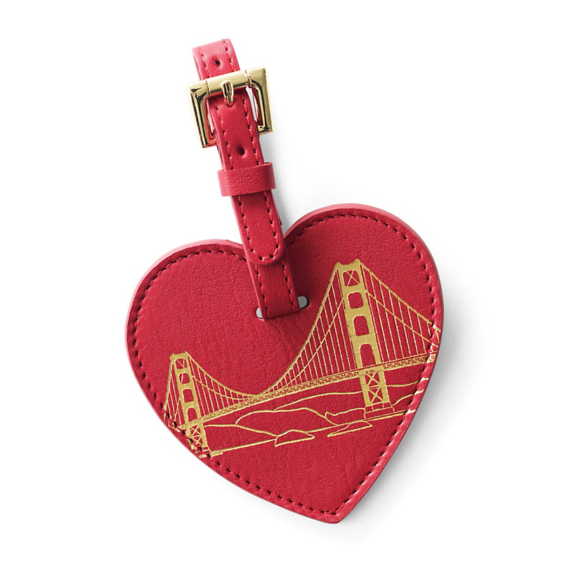 Red San Francisco Luggage Tag