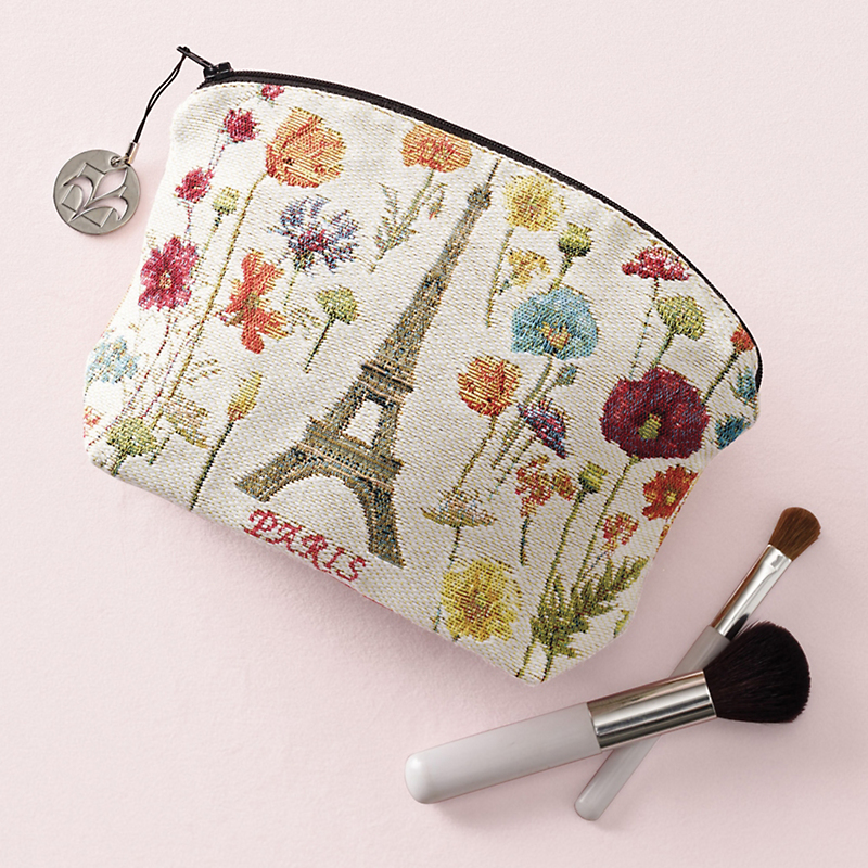 Ivory Paris Tapestry Cosmetic Bag