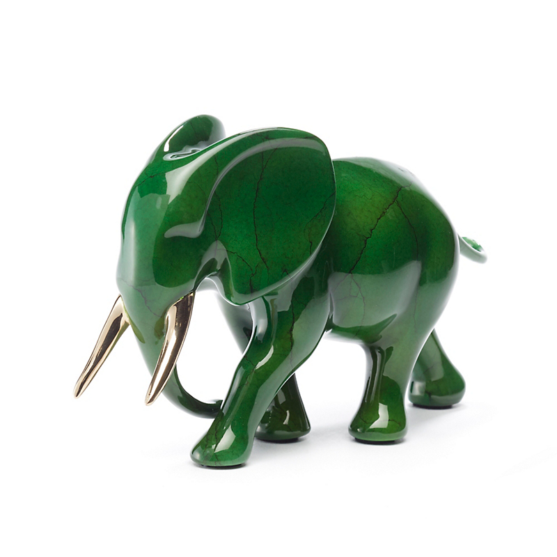 Loet Vanderveen Legacy Edition Noah's Elephant In Jewel Emerald