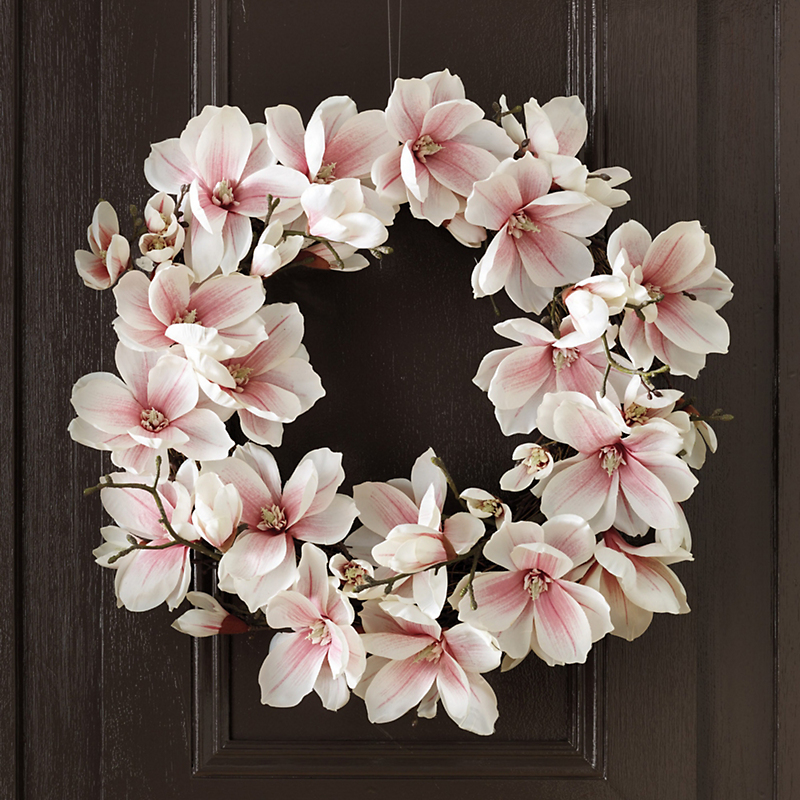 Pink Japanese Magnolia Wreath
