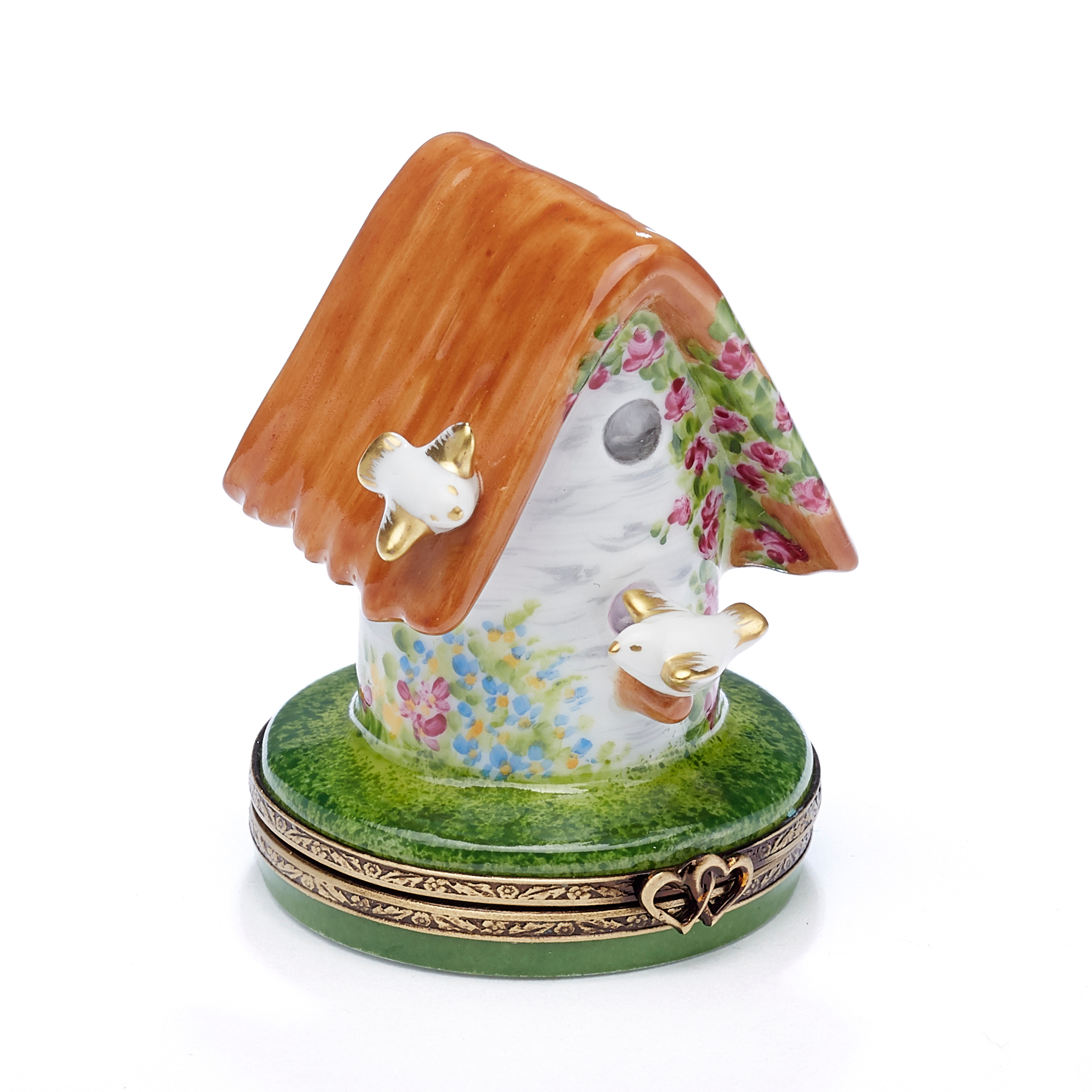 Limoges Lovebirds Birdhouse Box