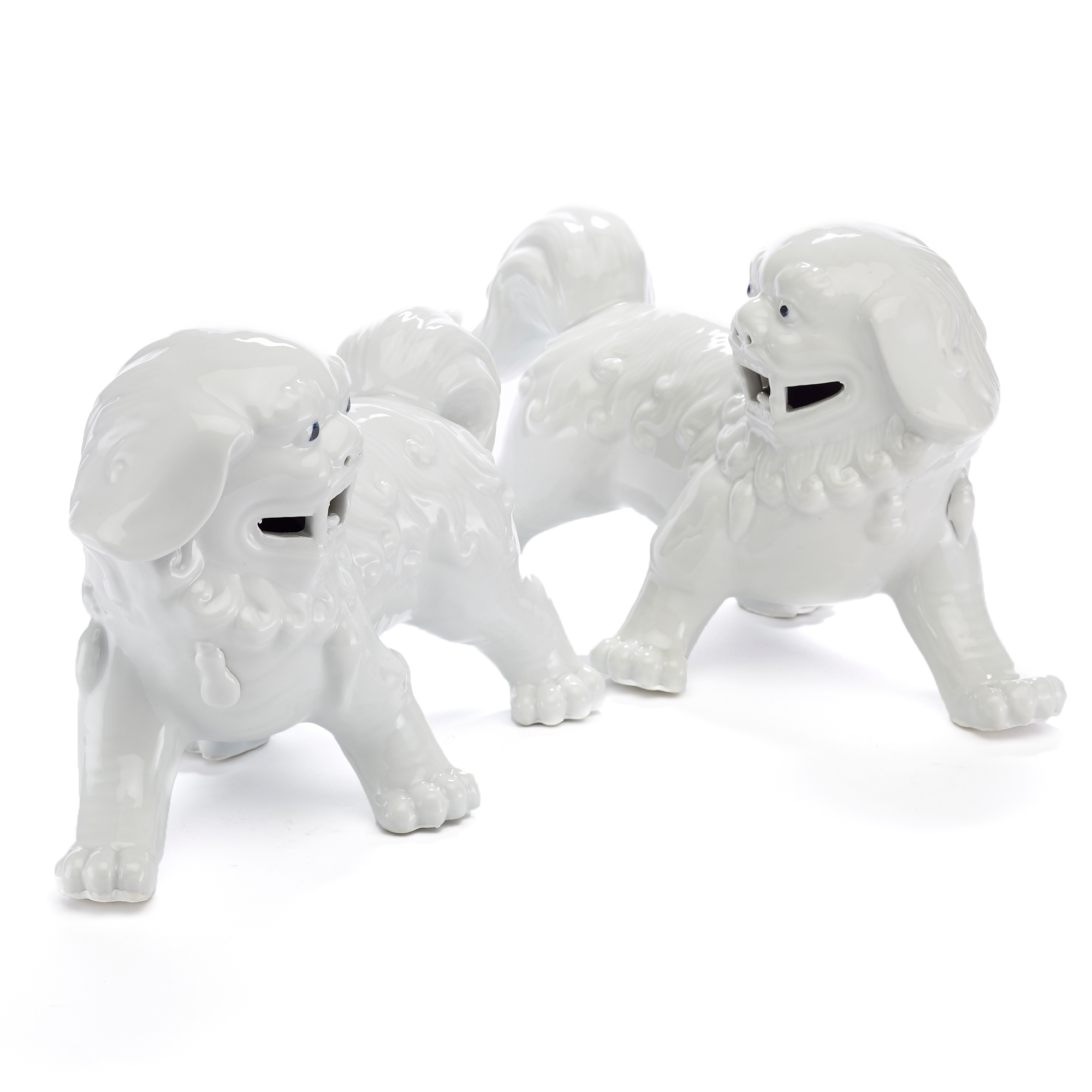 Walking Foo Dogs, Set Of 2