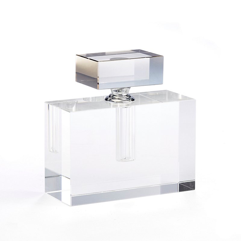 Crystal Perfume Bottle, Rectangular
