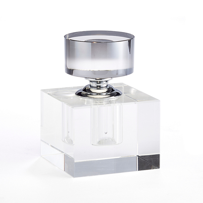 Crystal Perfume Bottle, Cube