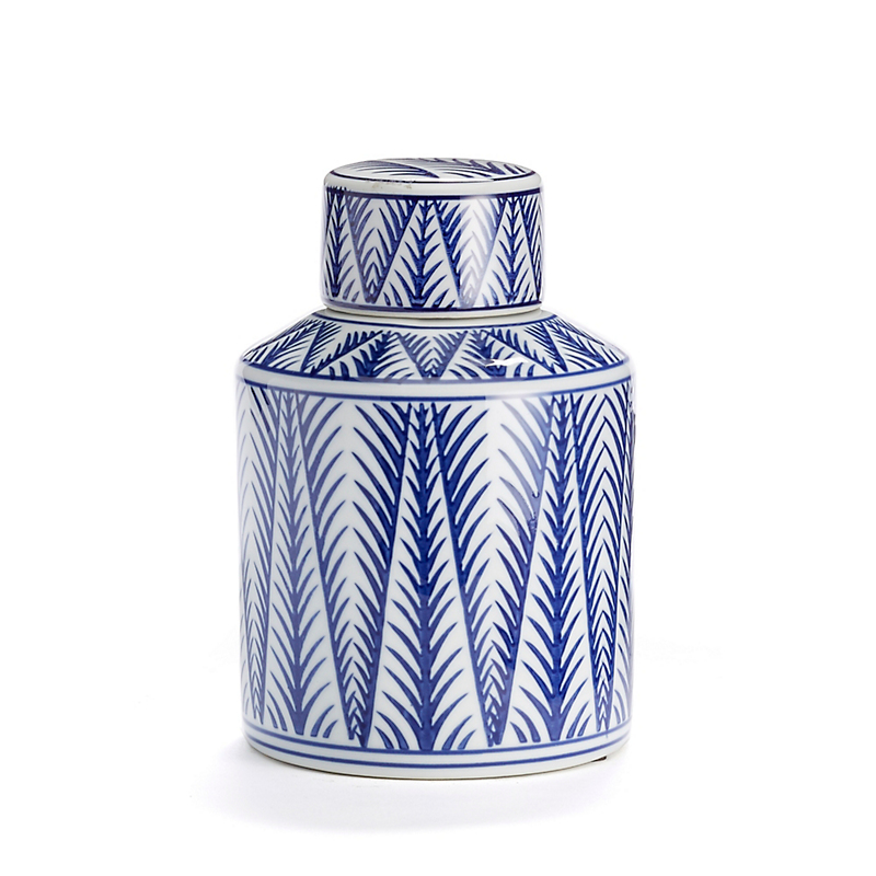 Blue & White Tea Jar, Bamboo Jar