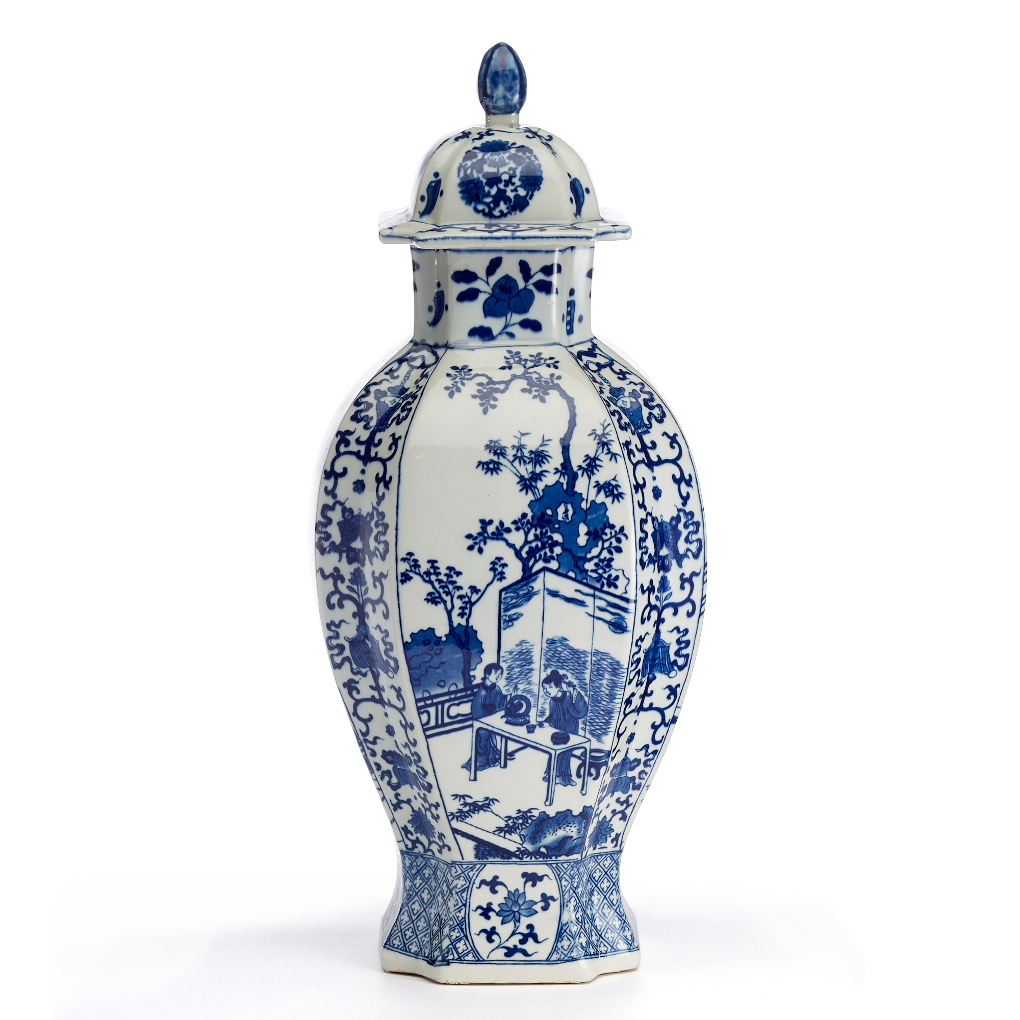 Blue & White Pavilion Jar