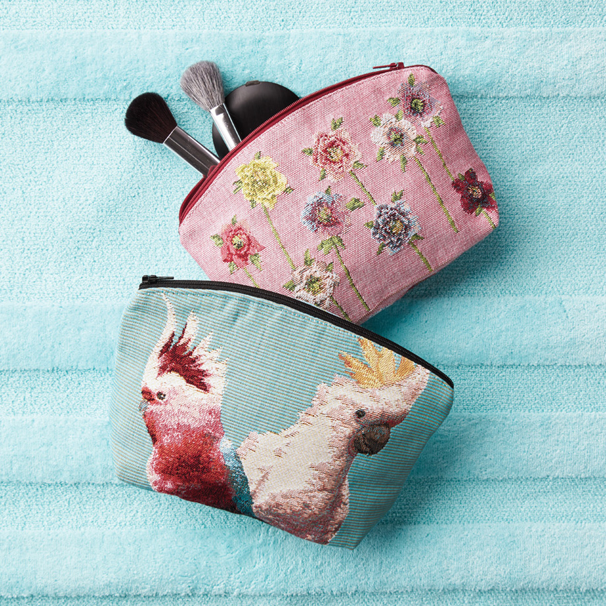 French Tapestry Makeup Bags
