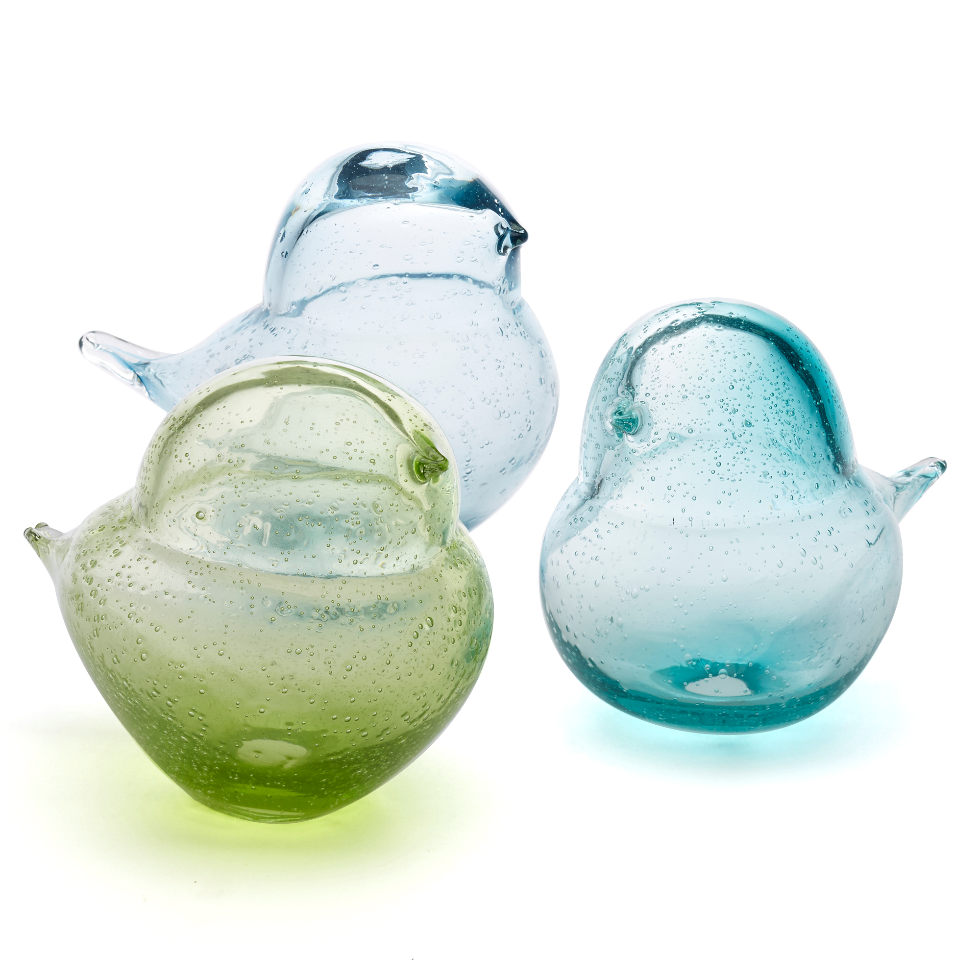 Glass Bird Trio, Set Of 3