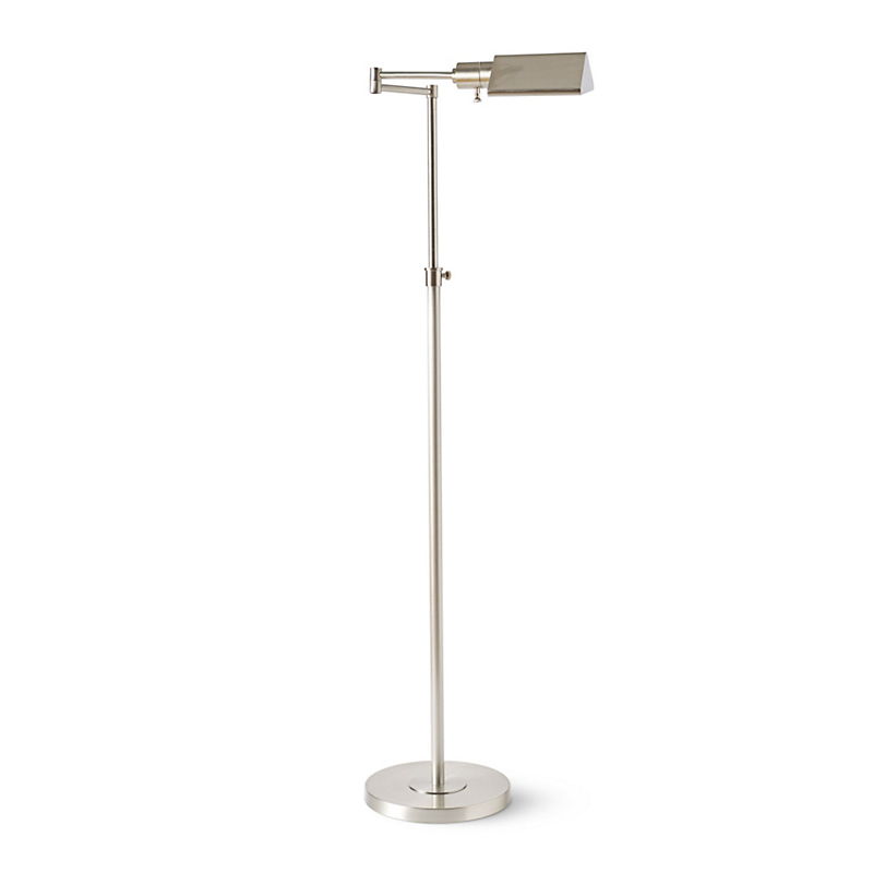 Nickel Pharmacy Floor Lamp