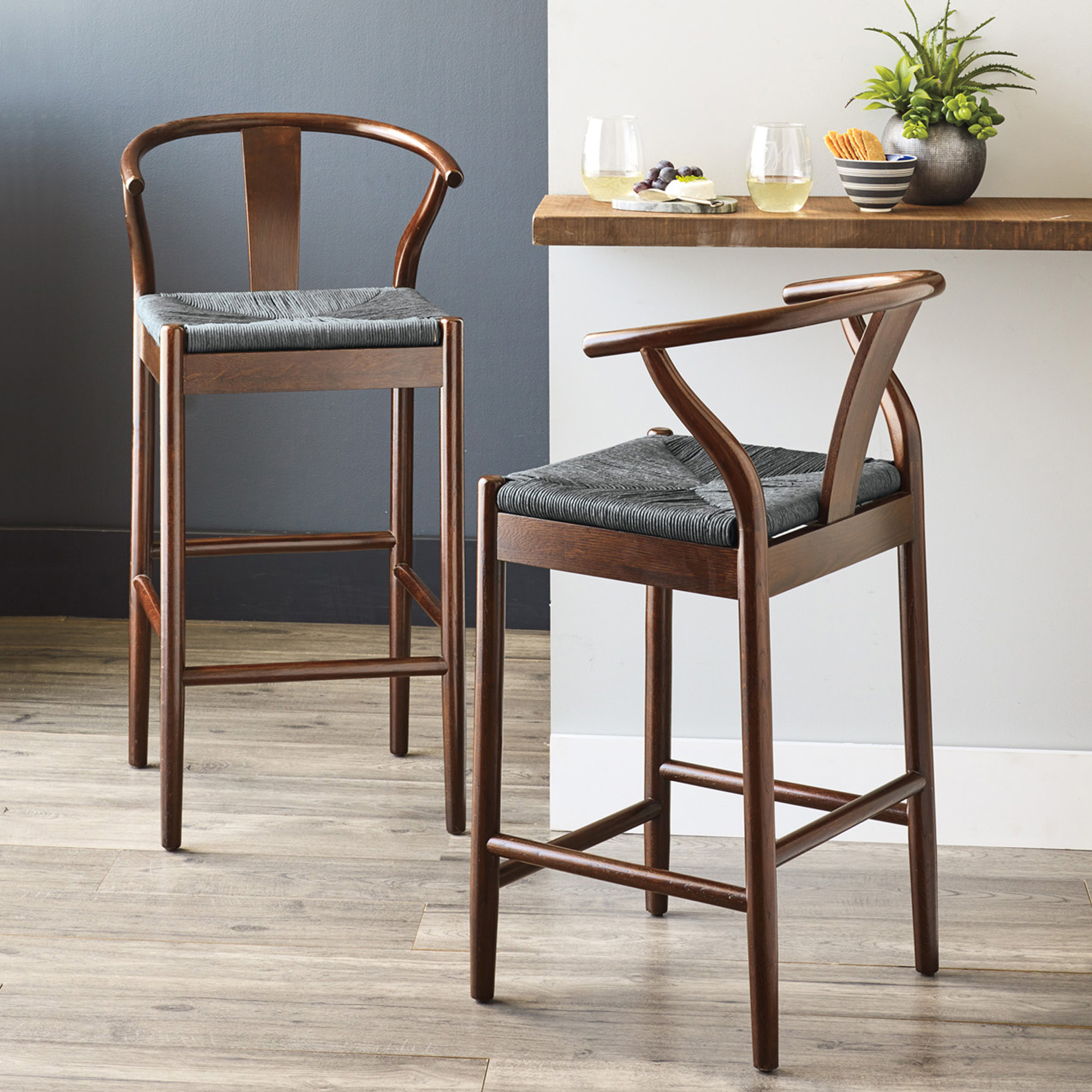 Horseshoe Bar And Counter Stools, Espresso