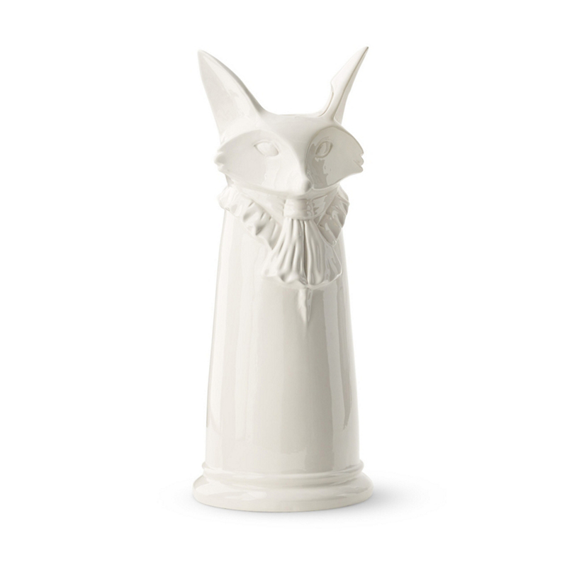 Regal Ceramic Umbrella Stands, White Fox