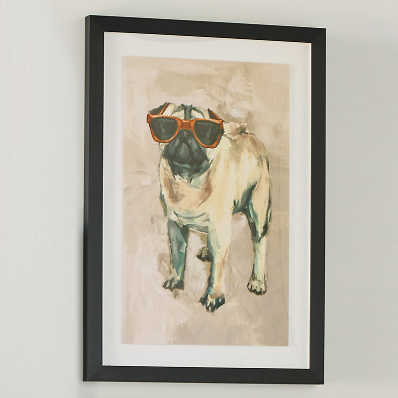 Dogs With Glasses Artwork, Pug