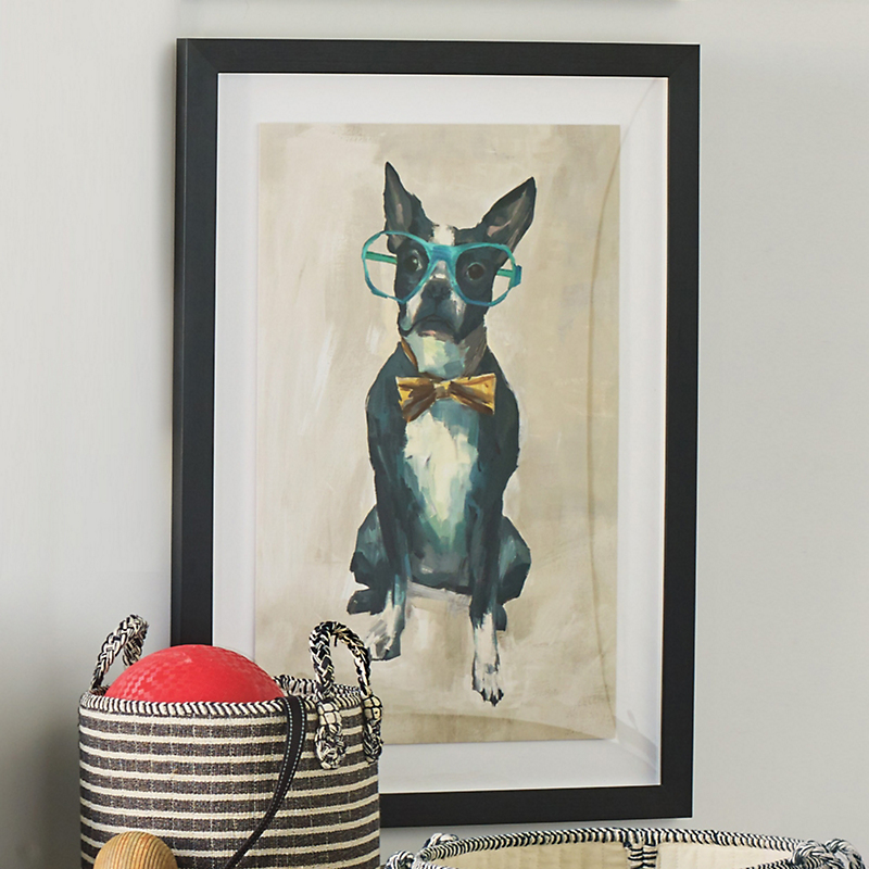 Dogs With Glasses Artwork, Boston Terrier