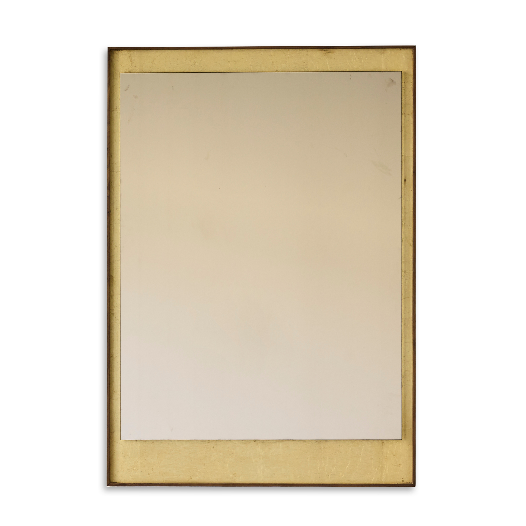 Gold-Leaf Rectangular Mirror