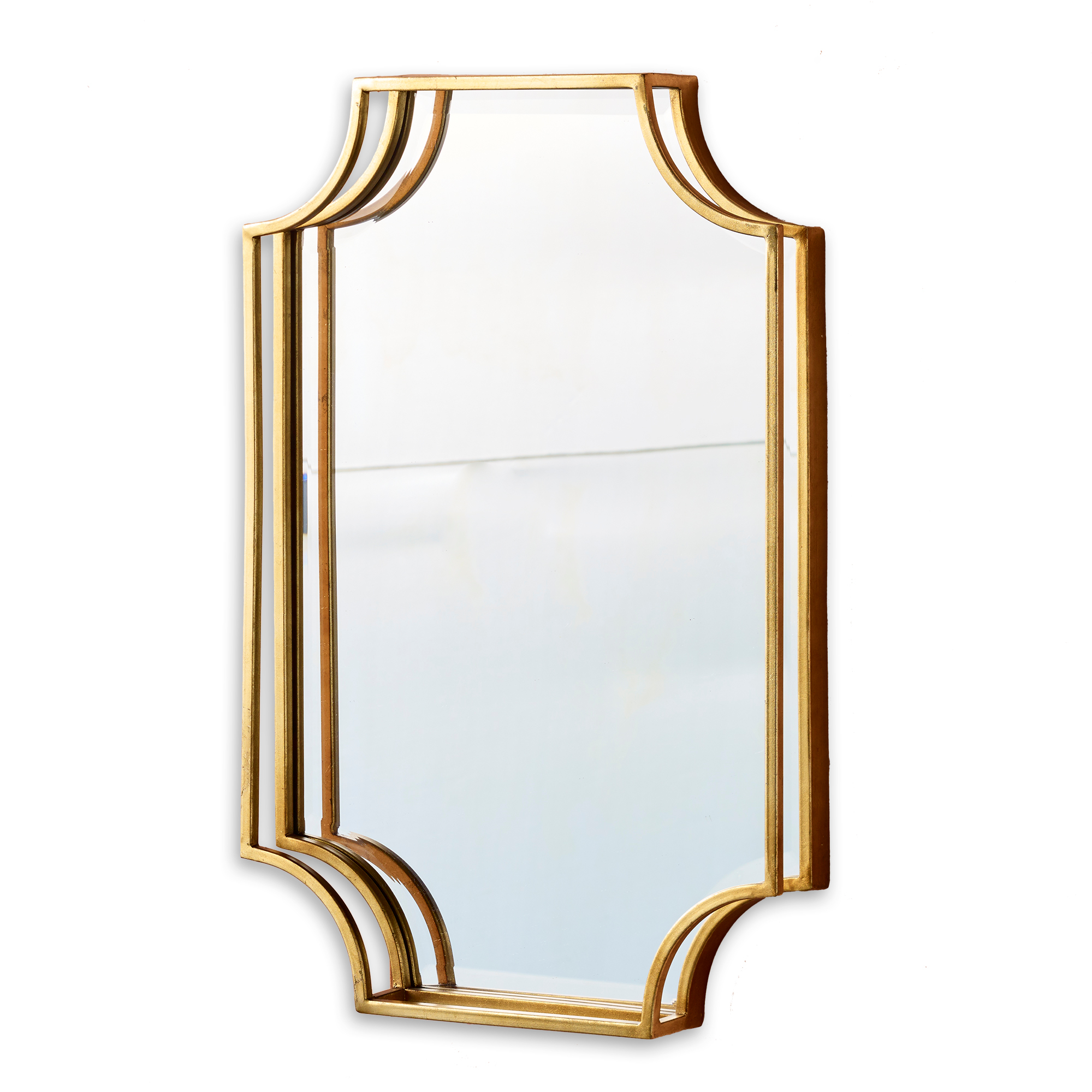 Gold-Leaf Wall Mirror