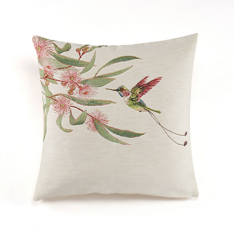 Paradise Garden French Tapestry Pillows, Hummingbird