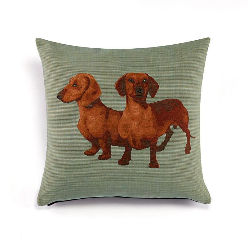 Dachshund Tapestry Pillows, Square