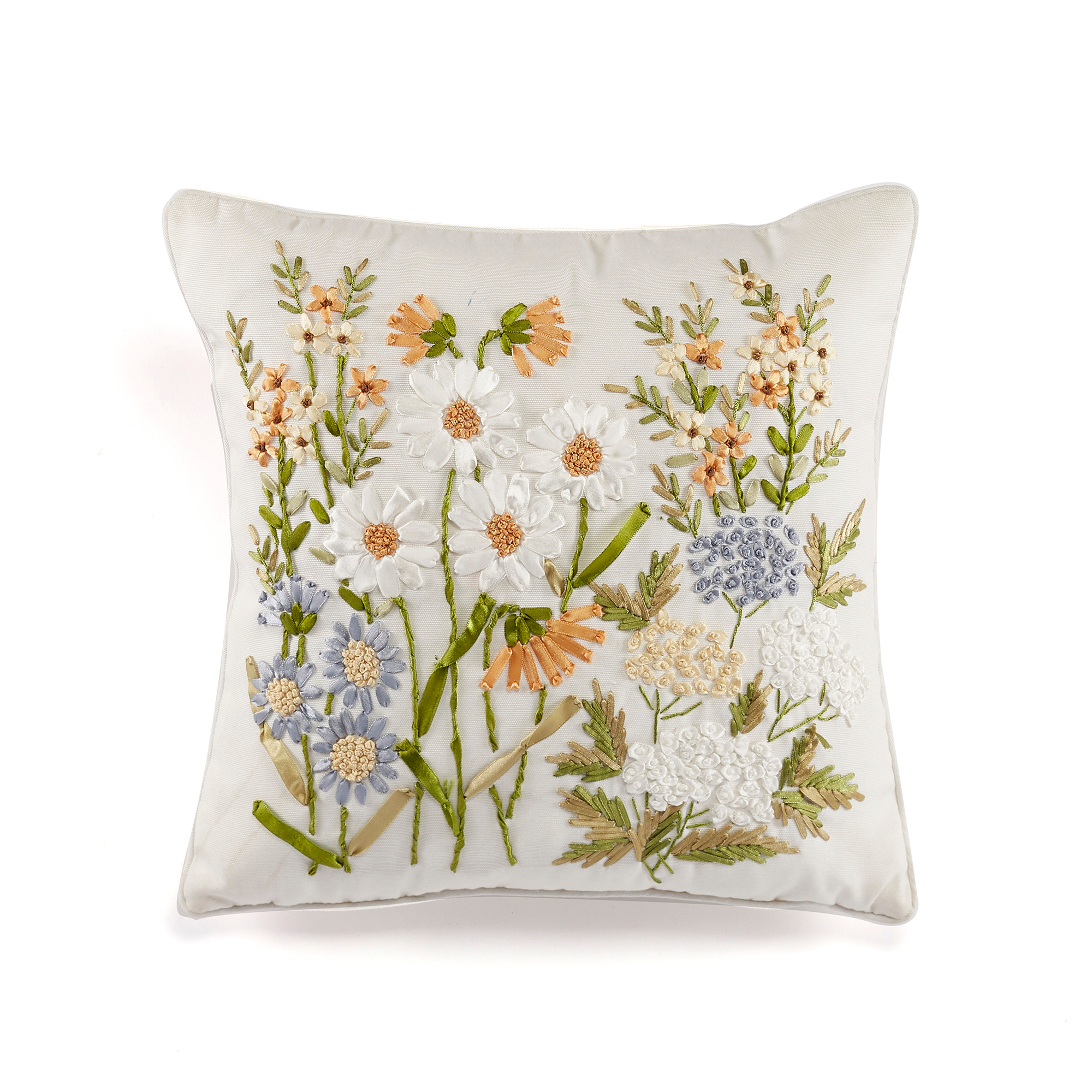Wildflower Ribbon Pillow