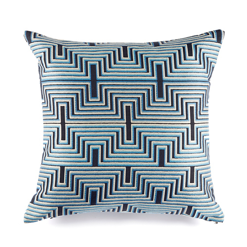 Geo Striped Jacquard-Woven Pillows, Optic