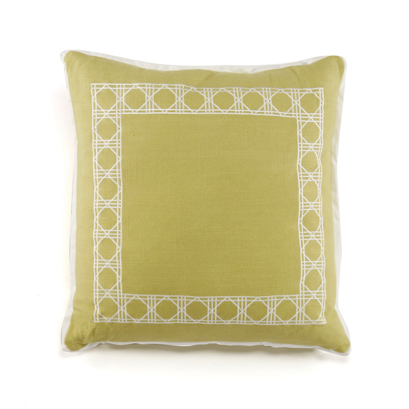 Belgian Linen Pillow, Lime Square