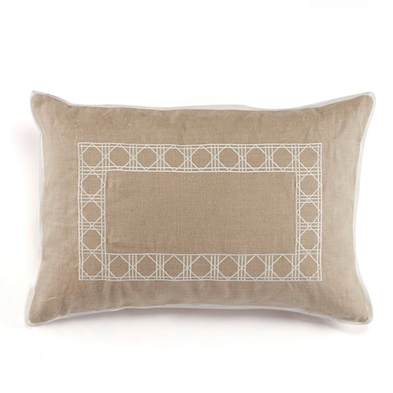 Belgian Linen Pillow, Natural Lumbar
