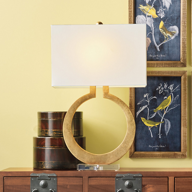 Gold-Leaf Moon Lamp