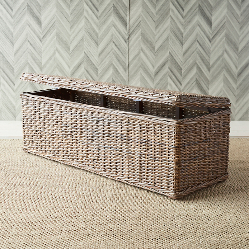 Wicker Storage Bench