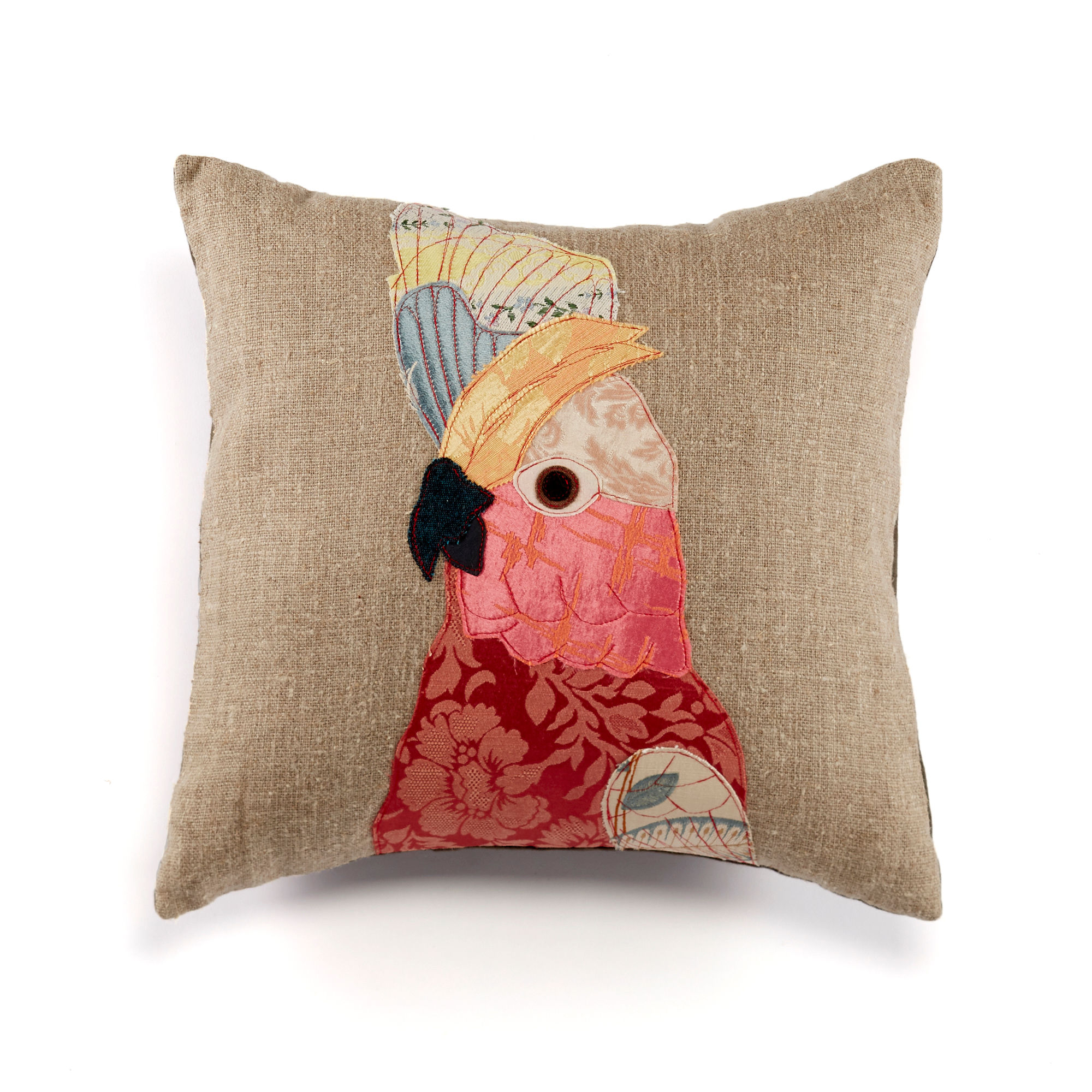 Carola Van Dyke Pink Cockatoo Pillow